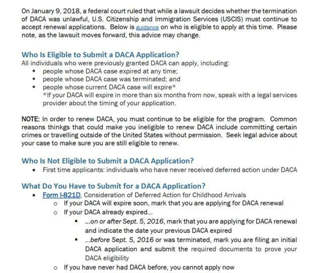 Daca Renewal - New USCIS Guidelines